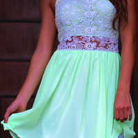 Love To Be Lovely Dress: Neon Green | Hope's