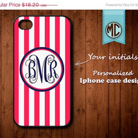 20% OFF SALE Personalized iPhone 4 Case - Plastic iPhone case - Rubber iPhone case - Monogram iPhone case - iPhone 4s case - K094