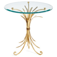 Wheat-Sheaf Side Table, Gold, Standard Side Tables