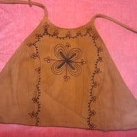 Hippie Leather Halter Top