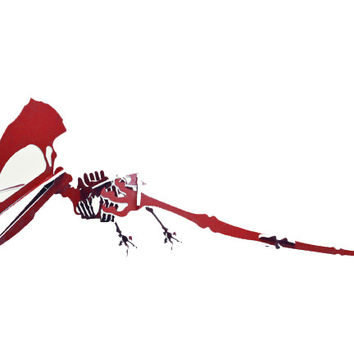 "[GIANT] 3D Dinosaur Puzzle - Tupuxuara (84"" L x 156"" W) - 1/2"" Recycled HDPE - 8 Color Combinations"