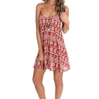 Paisley Tank Dress Brick