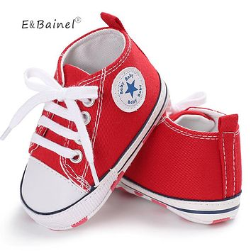 Canvas Baby Sneaker Sport Shoes For Girls Boys Newborn Soft Bottom Anti-slip First Walkers
