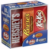 Hershey's Chocolate Variety Pack, 18-Count, 27.3-Ounce Box