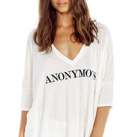 Anonymous V-neck Loose Shirt