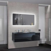 """UMBRIA - Large Parallel Wall-Mounted LED Mirror 47""""x24"""""""