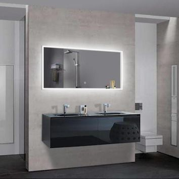 "UMBRIA - Large Parallel Wall-Mounted LED Mirror 47""x24"""