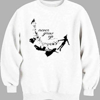 Never Grow Up Peter Pan art Sweater for Mens Sweater and Womens Sweater ***