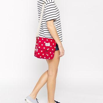 Cath Kidston Mini Satchel Button Spot at asos.com