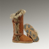 UGG Fox Fur Tall Boots 1984 Chestnut