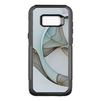 Abstract Modern Turquoise Brown Gold Elegance OtterBox Commuter Samsung Galaxy S8+ Case