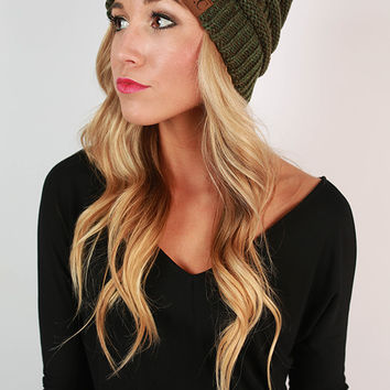Beanie Beautiful in Olive Blend