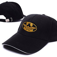 ANDREYD Batman and Wonder Woman Logo Adjustable Baseball Caps Unisex Snapback Embroidery Hats