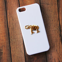 iPhone 5c Elephant Case Animal Case iPhone 5 Gold Samsung Galaxy S4 Case White iPhone 5s Cover White Galaxy S4 Case Galaxy S3 iPhone 6 Case