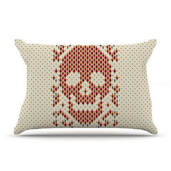 "Tobe Fonseca ""Deforestation"" Skull Illustration Pillow Case"