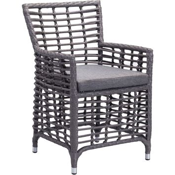 Sandbanks Outdoor Dining Chair Gray (Set of 2)