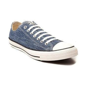 LMFUG7 Converse Chuck Taylor All Star OX Washed Canvas Low Top Sneakers 147038F Navy 10 D(M)