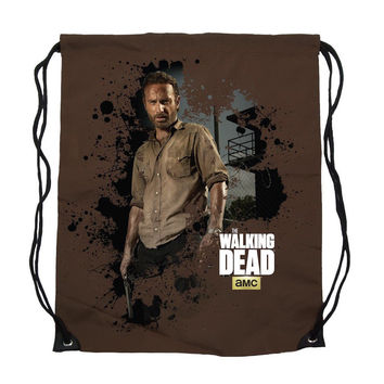 The Walking Dead Rick Grimes Cinch Bag Backpack New Licensed