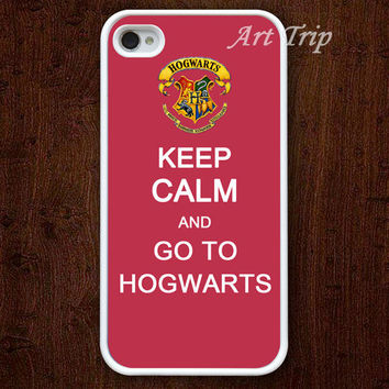 iPhone 4 Case, iphone 4s case -- keep calm and got to hogwarts iPhone 4 Case, harry potter iphone 4 case, iphone 4 case