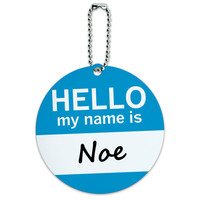 Noe Hello My Name Is Round ID Card Luggage Tag