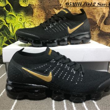Nike Air Vapor Max Plyknit 2018 Causal Running Shoes Black Yellow