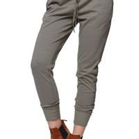 LA Hearts Olive Canvas Trim Jogger Pants - Womens Pants - Green -