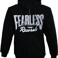 Fearless Records Logo Zip Hoody (Black) | Fearless Records UK/EU Store