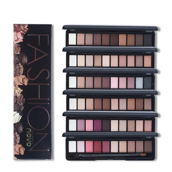 Shimmer Matte Natural Fashion Eye Shadow Make Up Light Eyeshadow Cosmetics Set With Brush 10 Colors NOVO Eye Makeup Palette [8834072588]