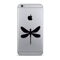 Dragonfly iPhone 6 Decal - 2 Dragonflies Velvet Fabric iPhone 6 Plus Stickers - Vinyl Sticker Galaxy s5 - white Fabric Dragon Fly Stickers
