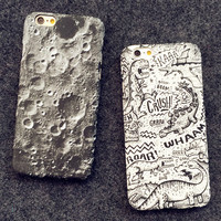 Moon creative case Cover for iPhone 5s 6 6s Plus Gift-150