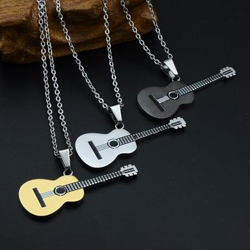 """I Play Guitar"" Pendant Necklace"