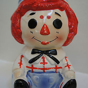 Retro Ceramic Vase Raggedy Ann & Andy No. 4149X  Handcrafted in Japan