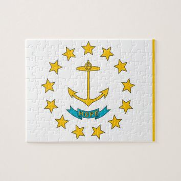 Puzzle with Flag of Rhode Island State