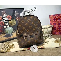 LV Louis Vuitton Fashion Women Casual School Bag Cowhide Leather Backpack I-AGG-CZDL