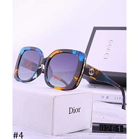 GUCCI Trend Fashion Wide Polarized Sunglasses UV Protection Sunglasses #4