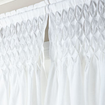 Pom Pom at Home Each 42W x 96L Smocked Linen Curtain