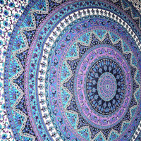 Large Indian Mandala Tapestry, Hippy Wall Hanging Throw Bedspread Dorm Tapestry Decorative Wall Hanging , Picnic Beach Sheet Coverlet