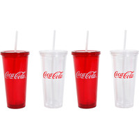 Walmart: Coca-Cola Always Coca-Cola 23-Ounce Double-Wall Tumblers, Set of 4