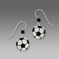 Sienna Sky Earrings - Soccer Ball
