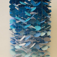 Blue Ombre Mobile / Baby Mobile / Crib Mobile / Nursery Mobile / Circle Mobile / Ombre Mobile / Paper Mobile / Floating Mobile