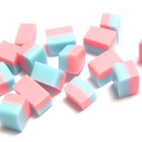 Miniature Cotton Candy Fudge  12 Candies by TinyFoodSupply on Etsy