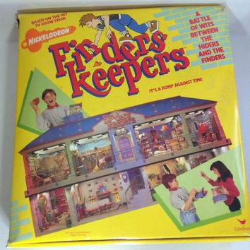 Vintage 1980s Nickelodeon Finders Keepers Board Game