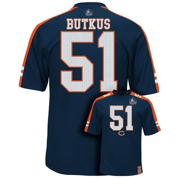 Majestic Chicago Bears Dick Butkus Hall of Fame Hashmark Player Top