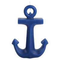 Anchor Candle, Blue, Small, Filled Candles