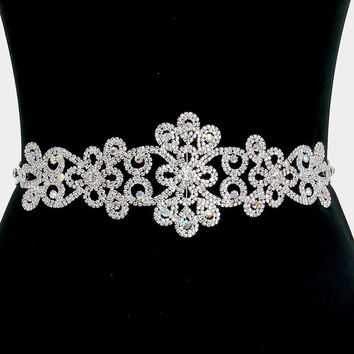 Versatile AB rhinestone wedding belt #wb1559