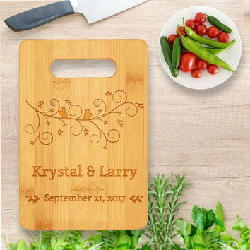 Personalized/Custom Laser Engraved Bamboo Wood Cutting Board