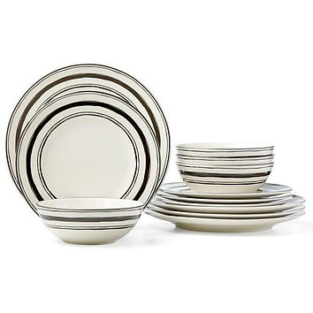 Around the Table Stripe 12-piece Dinnerware Set by Lenox