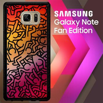 Keith Haring Colors Go Back Z1290 Samsung Galaxy Note FE Fan Edition Case
