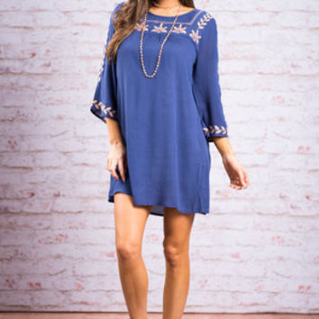 Oh So Boho Tunic, Royal Blue