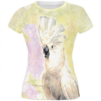 ONETOW Screaming Cockatoo All Over Juniors T Shirt